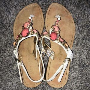 Cute embellished thong sandals